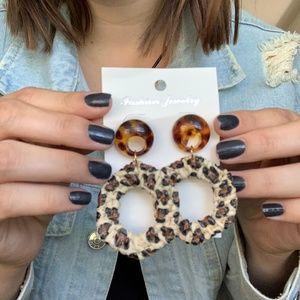 3/$25 Weave Leopard Drop Animal Print Earrings